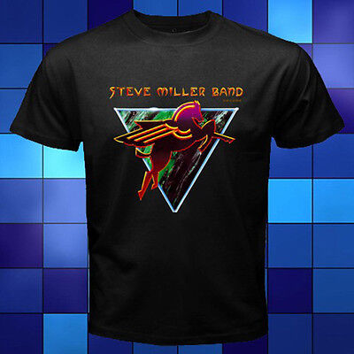 New Steve Miller Band The Very Best Of The Arcade Black T-Shirt Size S to