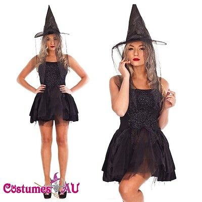 Ladies Gothic Halloween Vampire Twilight Devil Costume Fancy Dress Outfits Hat - Devil Outfits Halloween