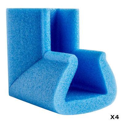 Biyomap : Biyosafe : Foam Corner Protector : Sides 100mm Long : 45x60mm : Set of
