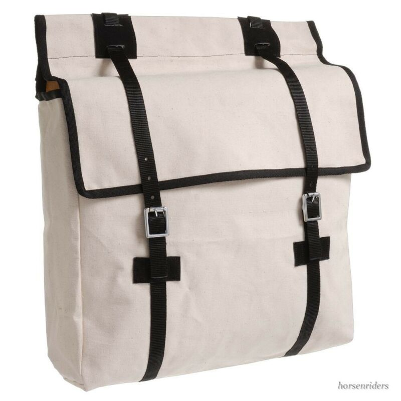 Pack Saddle Canvas Panier Bag used with Pack Saddle