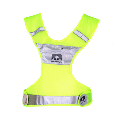 Nathan LightStreak LED Reflective Vest Safety Yellow Reflektierende Laufweste ()