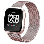 Fitbit versa milanese band - rose rood ML