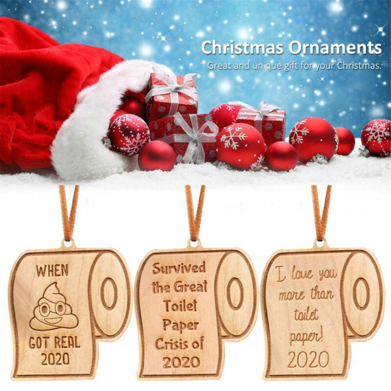 Home Decoration - 2020 Christmas Ornament Toilet Paper Pendant New Year Gift Home Decoration