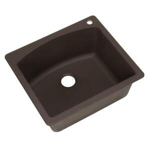 New 1-Hole Single Bowl Kitchen Sink in Cafe Brown ( Pick Up Only) PU1