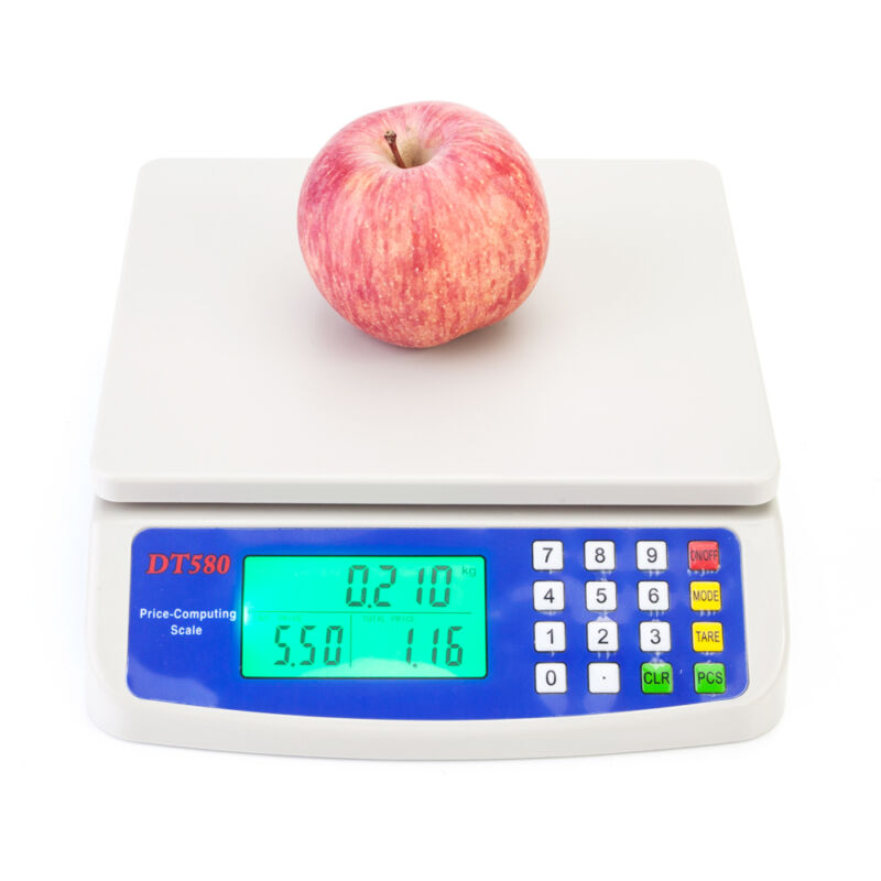 Electronic Digital Price Scale Weighing Balance Retail Scales 15KG /33LB