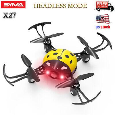 Syma X27 2.4Ghz 4-Axis Mini RC Drone Kid Ladybug Quadcopter Headless Mode Yellow