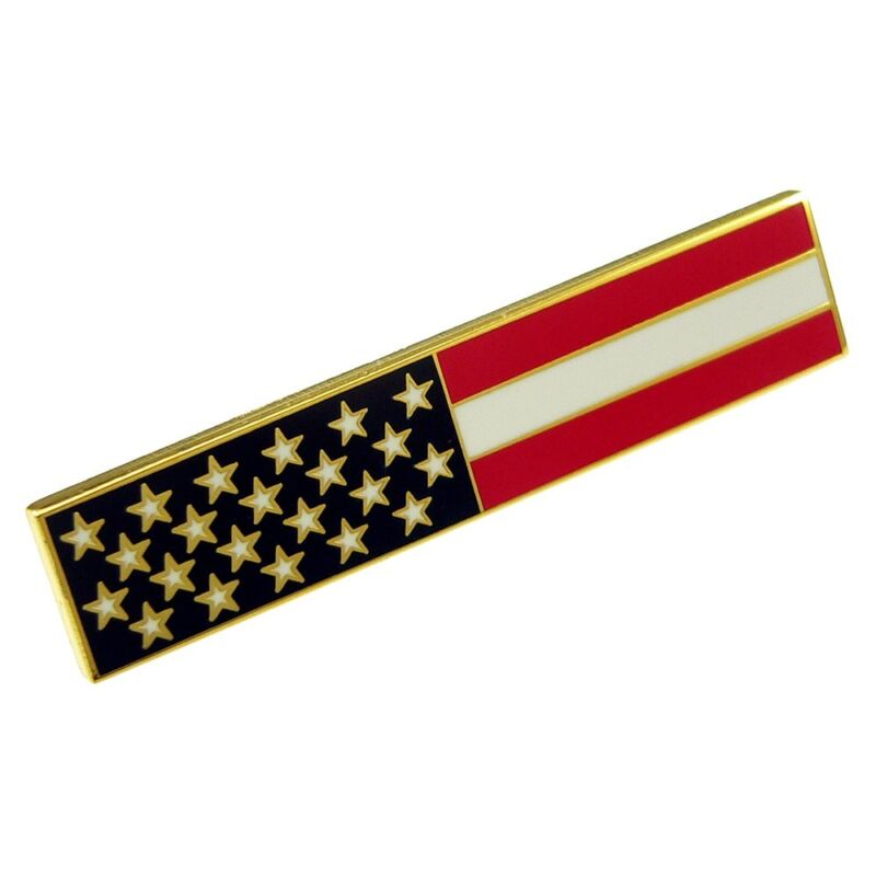 American Flag Citation Bar Patriot Police Uniform Merit Award Commendation Gold