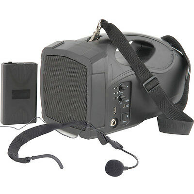 25W Portable Outdoor PA Speaker System - Mobile Wireless Mic
