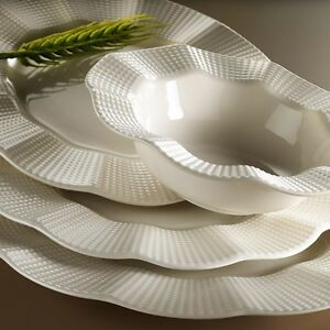 24-piezas-Porcelana-Pizarra-Plato-Ess-Servicio-Set-Vajilla-Kutahya-ondulado