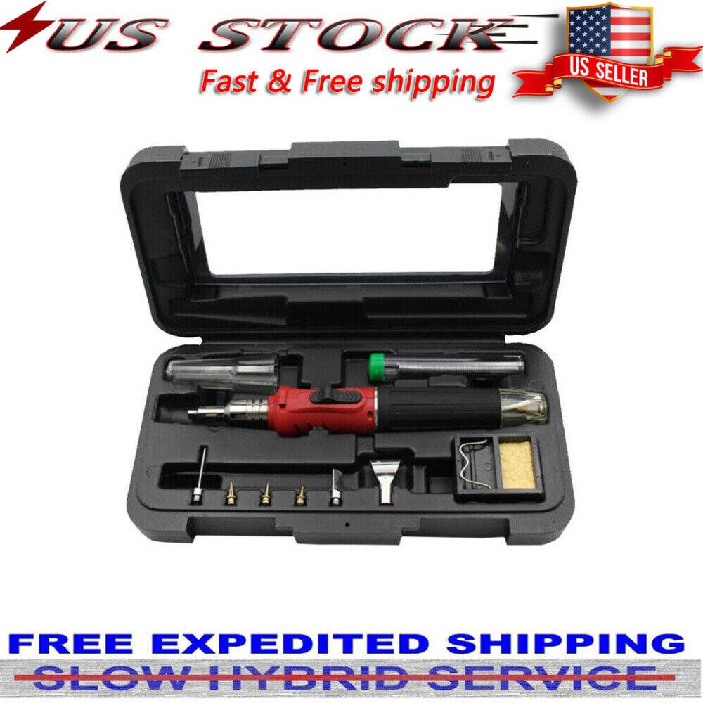 HS-1115K 10 IN 1 Butane Gas Soldering Iron Kit Welding Kit T