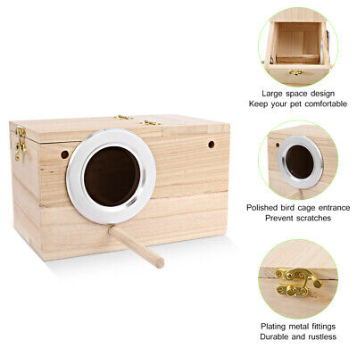 Parakeet Nest Box Budgie Nesting House Breeding Box Small Bird Lovebirds Parrot