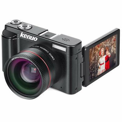 Digital Camera Vlogging Camera,  FHD 1080p Video Camera with Wide Angle Lens MAX
