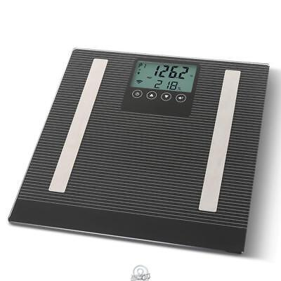 Hammacher Detecto iConnect Bluetooth Body Fat Weight Scale Calorie Watcher Coach