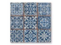 Blue tapestry Moroccan tiles