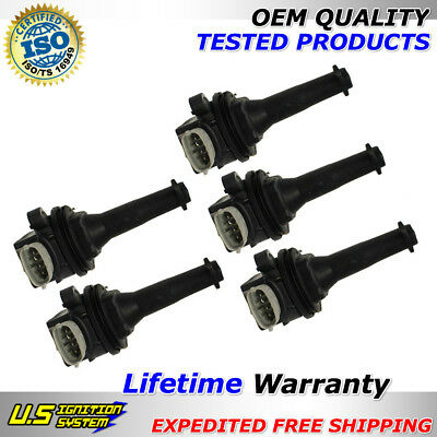 OEM Quality Ignition Coil 5PCS for Volvo C30 C70 S40 S60 V50 V70 XC70 2.4/2.5L