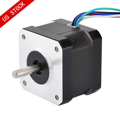 Us Ship 0.9deg Unipolar Nema 17 Stepper Motor 0.31a 22.7oz.in 42x42x34mm 6-wires