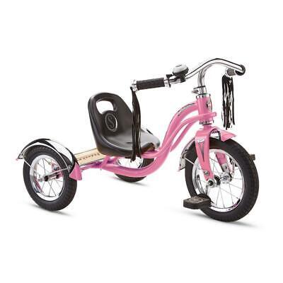 Kids Trike 12 in. Pink Retro Style Children Tricycle Full Steel Heavy Duty (New - 114.56 USD)