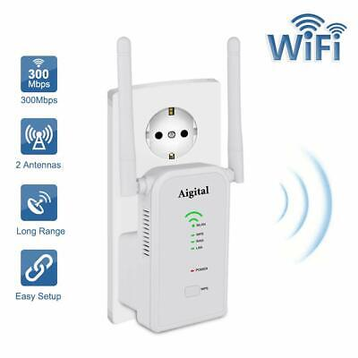 AIGITAL Ripetitore WiFi ,300 Mbps Range Extender Universale WiFi Router, Bianco