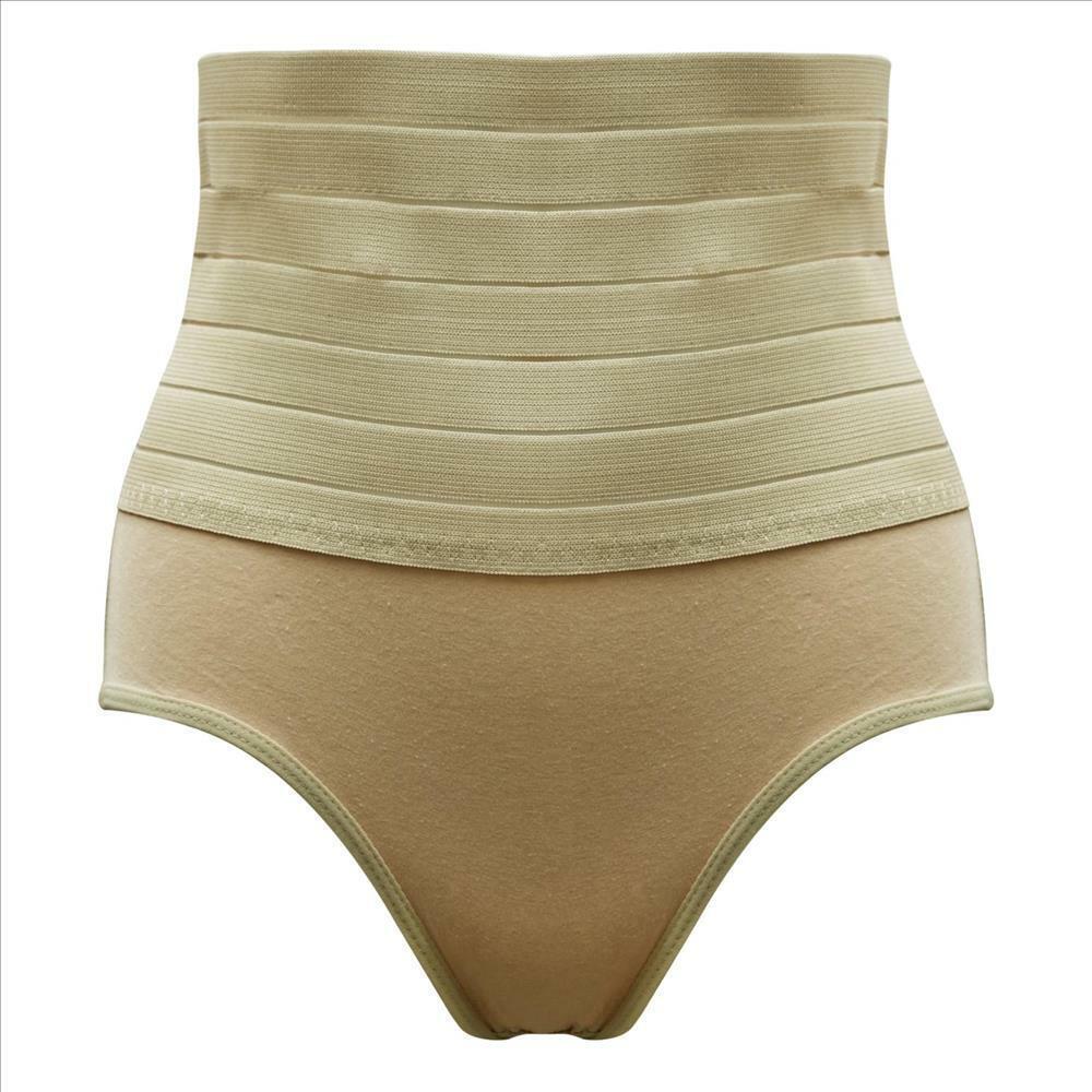 Damen Miederslip Bauchweghose High Waist Shaper Baumwolle S M L XL 36 38 40 42