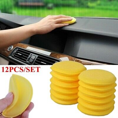 12PCS New Car Waxing Polish Foam Sponge Wax Applicator Cleaning Detailing Pads Foam Applicator Sponge
