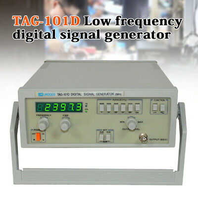 Tag-101d Digital Display Function Signal Generator 0.2hz-2mhz Accurate Frequency