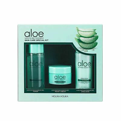 Holika Holika Aloe Soothing Essence Skin Care Special Kit (3 items) Free gifts