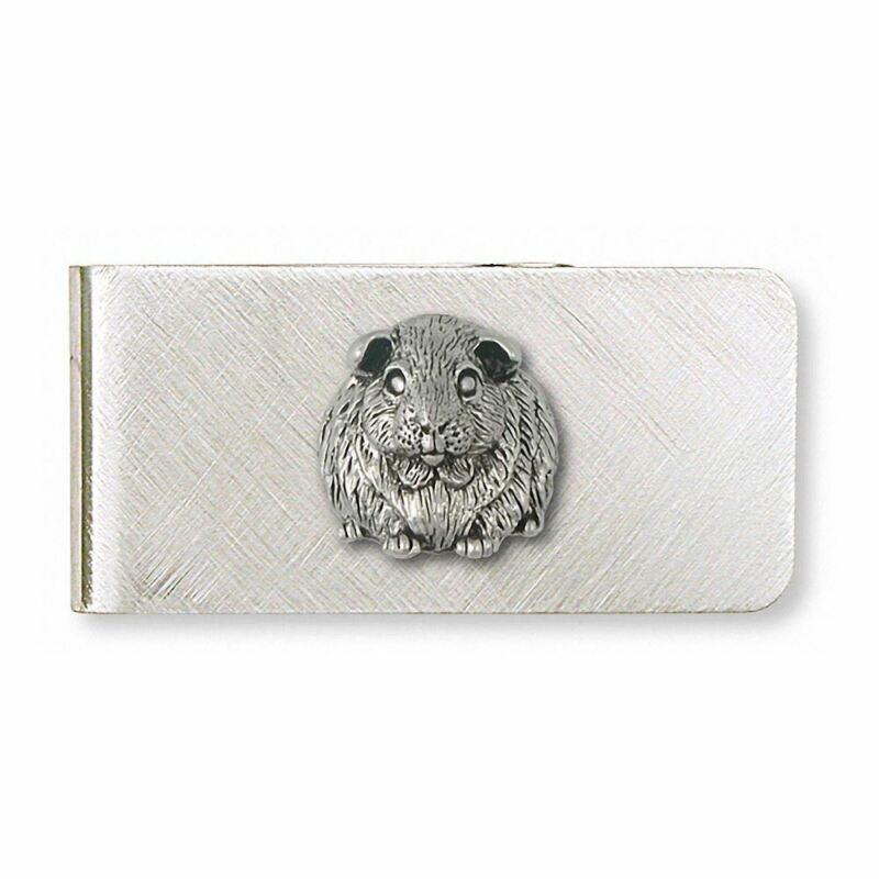 Guinea Pig Money Clip Jewelry Sterling Silver Handmade Piggie Money Clip GP1-MC