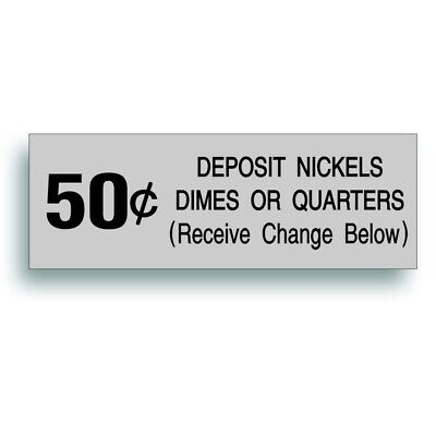 Vending Machine 50 Cent Decal Vintage Soda Pop Soft Drink Coin Slot Fits Vendo