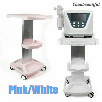 4 Wheel Medical Trolley Stand Rolling Carts Stand For Beauty Machine Pinkwhite