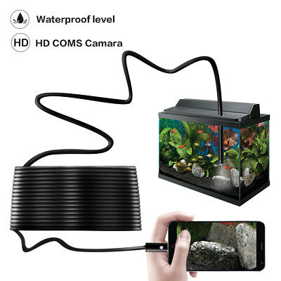 HD USB Endoscope Snake Borescope Hard Inspection Camera 2MP For...