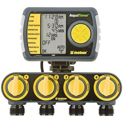 4-Zone Programmable Digital Water Timer Garden Sprinkler Irrigation Controller