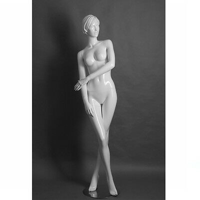 Adult Female Fiberglass Display Mannequin - White Matte Finish - Elizabeth4