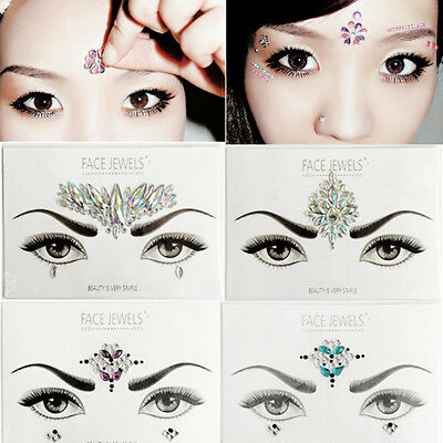 Halloween Festival Face Jewels Body Art Gems Acrylic Rhinestones Crystals Tattoo (Crystal Face Halloween)