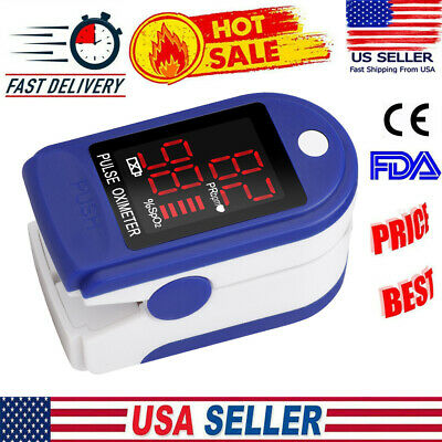 Pulse Fingertip Oximeter Spo2 Blood Oxygen Saturation Pulse Monitor Fda Approved