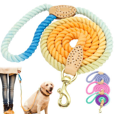 5ft Pet Dog Braided Rope Best Walking Leash Heavy Duty for Small Large Dogs