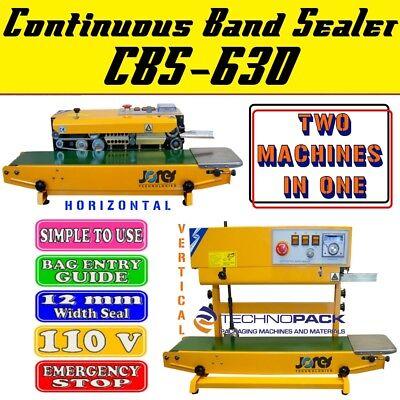 Continuous Band Sealer Plastic Bag Sealing Machine Jorestech 630