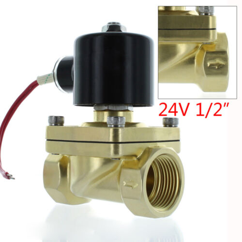 """1/2"""" NPT 24V AC Brass Electric Solenoid Valve  Water Air Gas"""