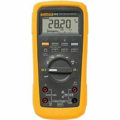Fluke 28-ii True-rms Rugged Ip 67 Industrial Digital Multimeter Msha Approvals