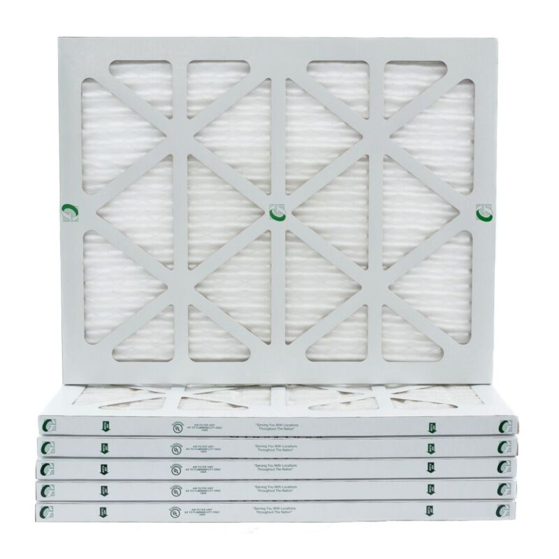 18x25x1 MERV 13 Pleated Air Filters. 12 PACK. Actual Size: 17-1/2 x 24-1/2 x 7/8