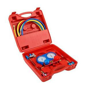 Free Delivery: Giantz Air Conditioning Manifold Gauge Kit Melbourne CBD Melbourne City Preview