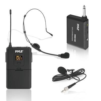 Pyle Wireless Microphone System, Beltpack Transmitter W/ Hea