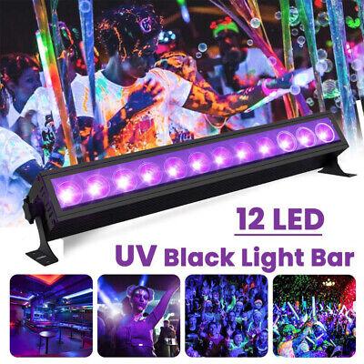 UV Black 12LED Stage Light Christmas Club Party Disco DJ Night Lighting UK Plug