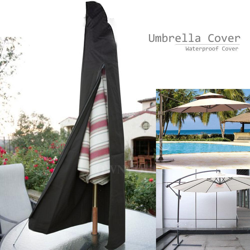Großer Cantilever-Sonnenschirm-Regenschirm-wasserdichte Abdeckungs-Garten-Patio