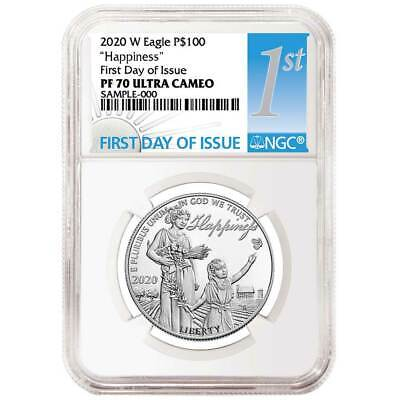 DEAL - 2020-W Proof $100 American Platinum Eagle Happiness NGC PF70UC FDI First