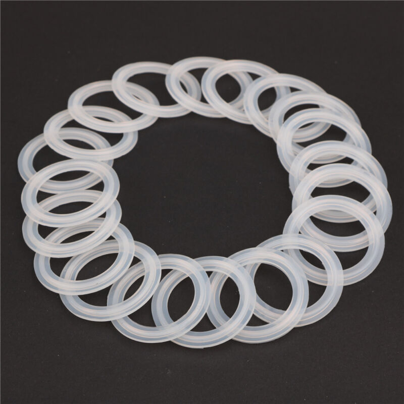 """HODEE 20 PCS Sanitary triCLAMP Tri CLAMP Silicone Gasket 2"""" ID:47.8mm, OD:64mm"""