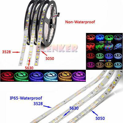LED strip 3528 5050 5630 DC12V waterproof flexible tape light rope stripe 5m US