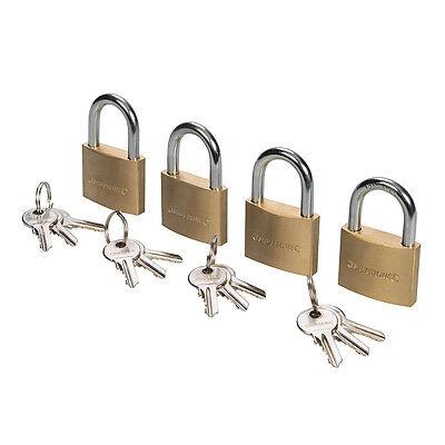 4 x Gleichschließende Vorhängeschlösser in 40 mm mit 12 Schlüssel