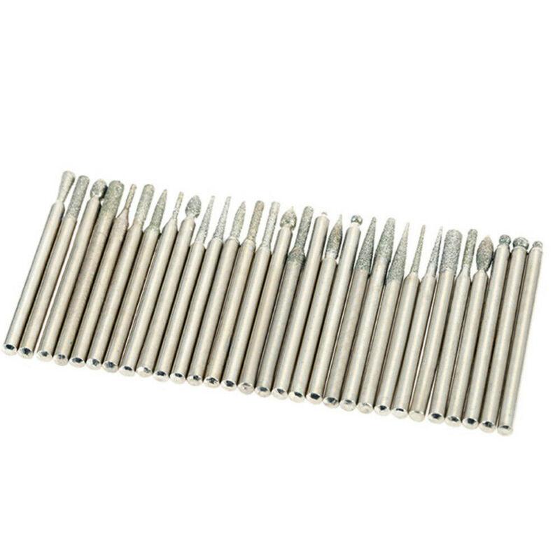 90Pcs Diamond Burr Bits Drill Kit Carving Dremel US