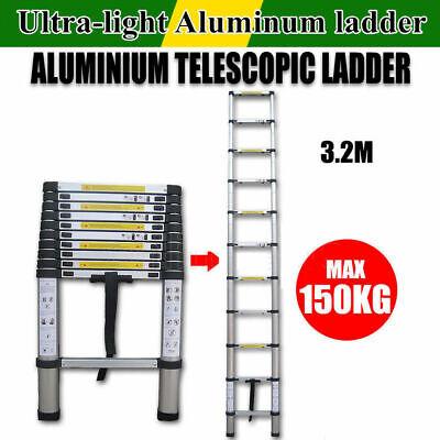 3.2M/10.5FT Aluminum Telescopic Telescoping Collapsible Loft Stretchable Ladder