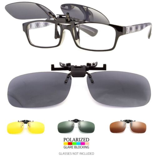 MEN WOMEN POLARIZED FLIP UP CLIP ON SUNGLASSES 100% UV 400 PROTECTION FISHING Clothing, Shoes & Accessories